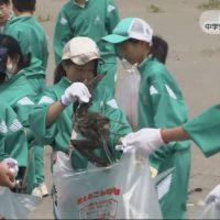 20170612中学生が海岸でゴミ拾い (5)