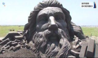 20180715旭市恒例砂の彫刻展示 (4)