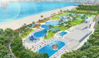 20190523都市型ビーチに向けて稲毛海浜公園で養浜工事始まる (1)