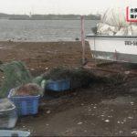 20191014沈没船から漏れ出した油 富津に漂着 (1)