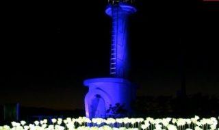 20201215恋する灯台 飯岡灯台ライトアップ (11)