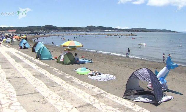 20210722千葉県館山市の海水浴場 2年ぶりに開設 (2)